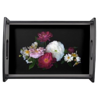Old Fashioned Roses Serving Tray