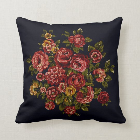 Old Fashioned Roses Throw Pillow