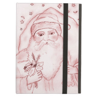 Old Fashioned Santa Claus in Red iPad Air Covers