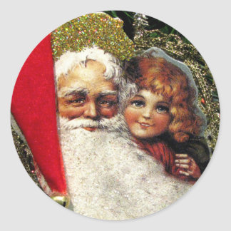 Old fashioned Santa Claus stickers