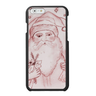 Old Fashioned Santa in Cranberry Incipio Watson™ iPhone 6 Wallet Case