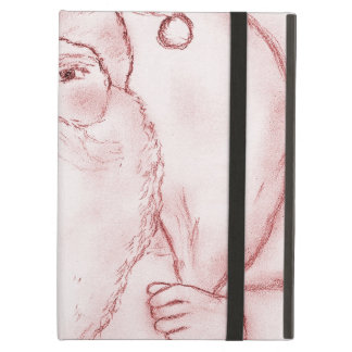 Old Fashioned Santa in Cranberry iPad Air Covers