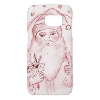 Old Fashioned Santa in Cranberry Samsung Galaxy S7 Case