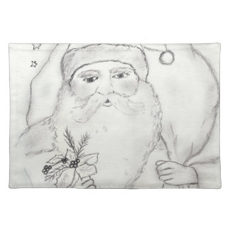 Old Fashioned Santa Placemat