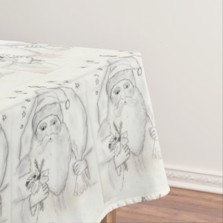 Old Fashioned Santa Tablecloth