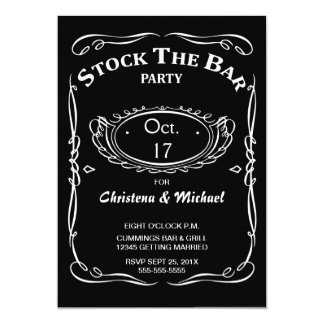 Old Fashioned Stock The Bar Shower Invitation