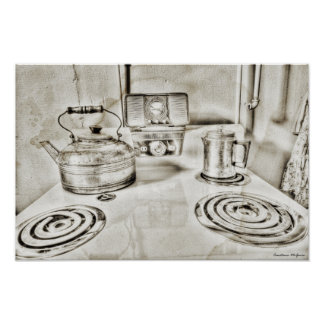 Old Fashioned Stove Top Posters