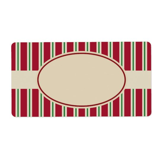 Old Fashioned Striped Christmas Labels
