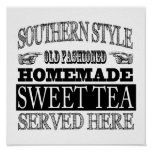 Old Fashioned Sweet Tea Vintage Look Advertising Poster