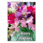 Old Fashioned Sweetpeas in a Jar Greeting Card