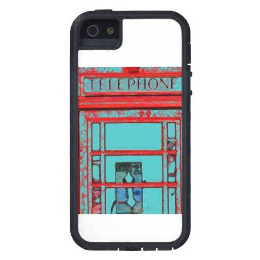 Old Fashioned Telephone Booth iPhone 5 Cases