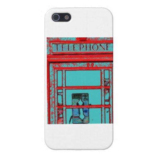 Old Fashioned Telephone Booth iPhone 5 Cover