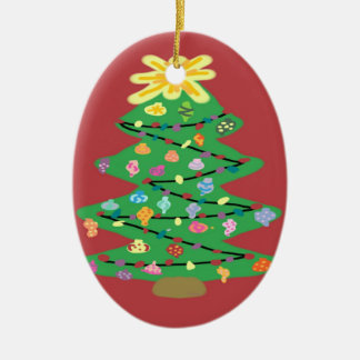 Old Fashioned Tree Ceramic Ornament