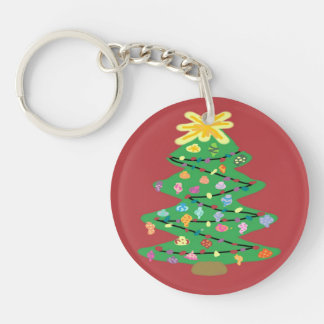 Old Fashioned Tree Keychain