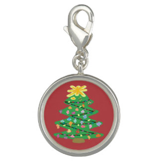 Old Fashioned Tree Photo Charm