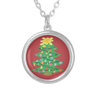 Old Fashioned Tree Silver Plated Necklace