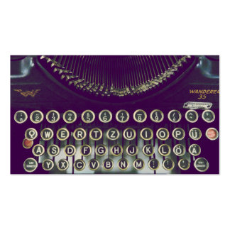 old fashioned typewriter business card