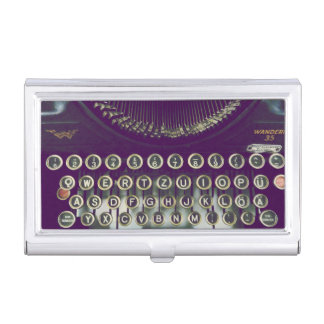 old fashioned typewriter business card holders