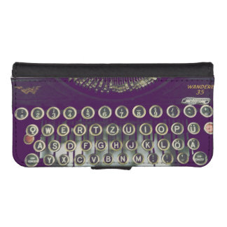 old fashioned typewriter iPhone SE/5/5s wallet case