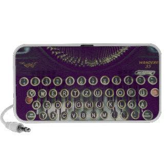old fashioned typewriter laptop speaker