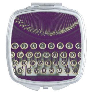 old fashioned typewriter makeup mirrors