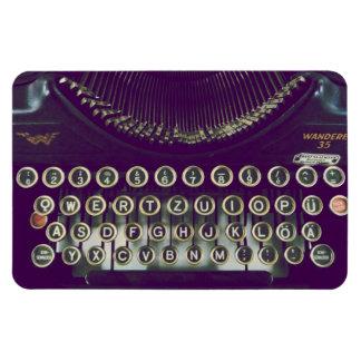 old fashioned typewriter rectangular photo magnet