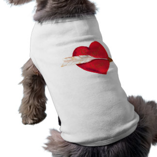Old Fashioned Valentine's Heart Doggie T Shirt