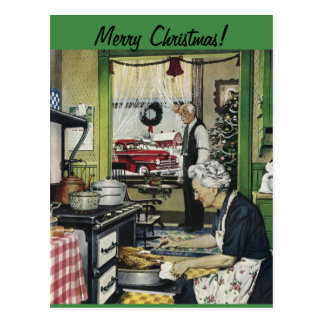 Old Fashioned Vintage Home Christmas Postcard
