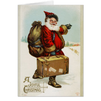 Old Fashioned Vintage Victorian Merry Christmas 10 Card