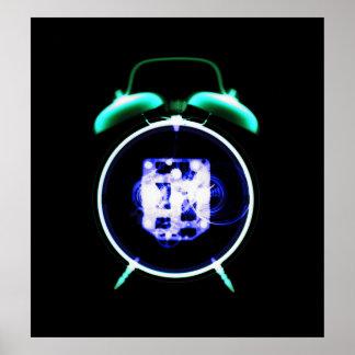 Old Fashioned X-Ray Clock Original Negative Poster