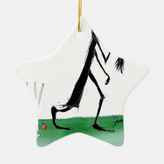 old father time - cricket, tony fernandes ceramic star ornament