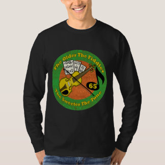 Old Fiddler 65th Birthday Gifts T-Shirt