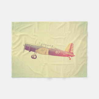 Old Fighter Airplane Dreamy Fleece Blanket