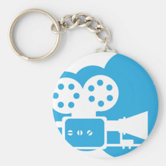 Old film camera Cloud Icon Vector Keychain