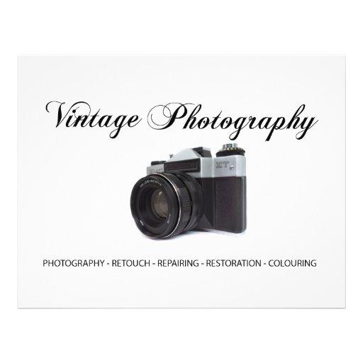 Old film camera flyer design