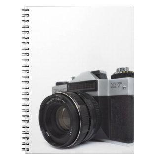 Old film camera spiral notebook