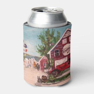 Old Firehouse, Geneva Painting on a Can Cooler