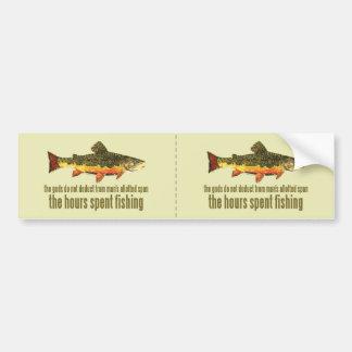 Old Fishing Saying Car Bumper Sticker