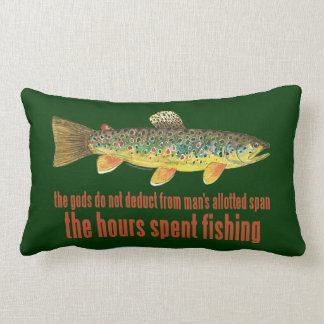 Old Fishing Saying Lumbar Pillow