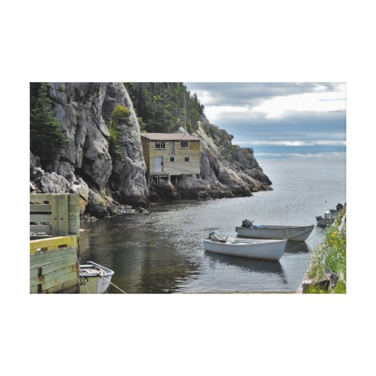 Old Fishing Shed in Shoe Cove, Newfoundland Canvas Print