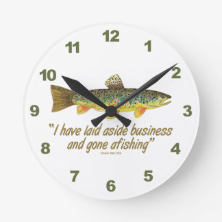 Old Fishing Words Wallclocks