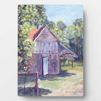 Old Florida Barn Rustic Acrylic Painting Plaque