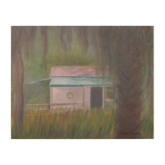 OLD FLORIDA BOAT HOUSE Wood Wall Art