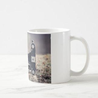 Old folding camera classic white coffee mug