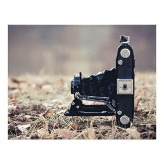 Old folding camera customized letterhead
