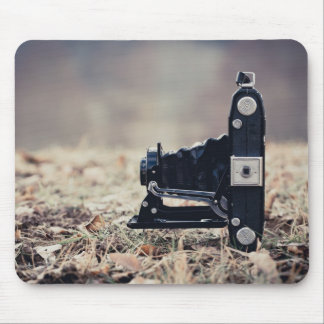 Old folding camera mouse pad