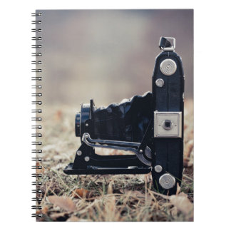 Old folding camera note book