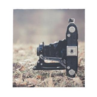 Old folding camera memo notepad