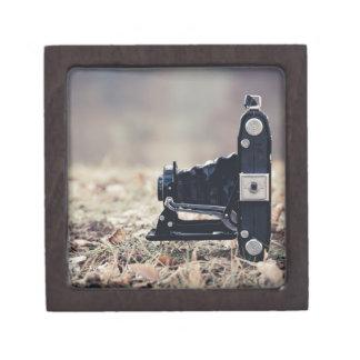 Old folding camera premium jewelry box