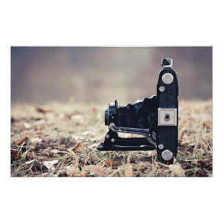 Old folding camera personalized stationery